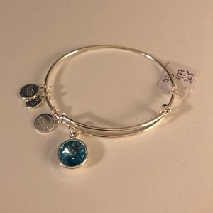 Alex and Ani blue stone bracelet